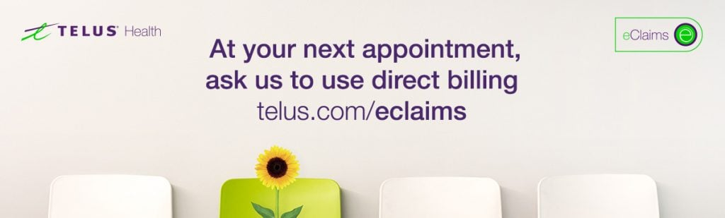 We support direct billing with Telus eclaims